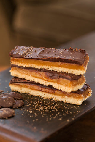 Millionaire Shortbread with Smoked Hickory Sea Salt