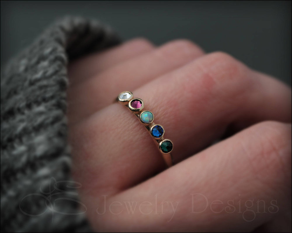 14k Multi Stone Ring - (choose # of stones)