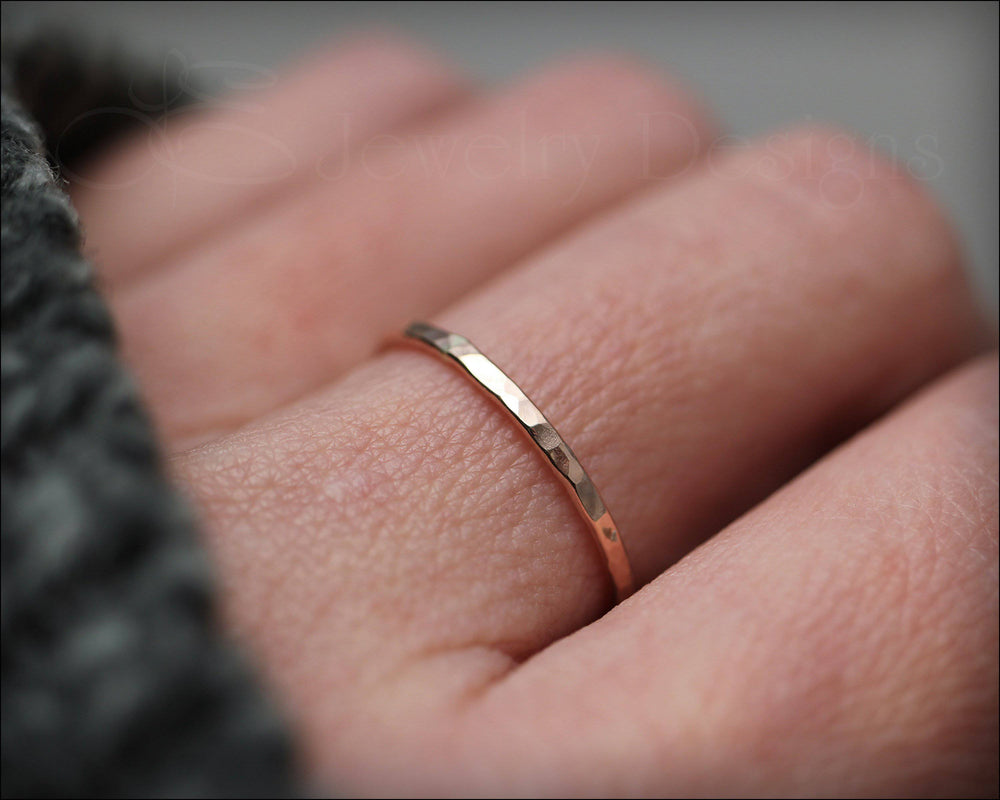 Thin 14k Rose or Yellow Gold Ring - LE Jewelry Designs