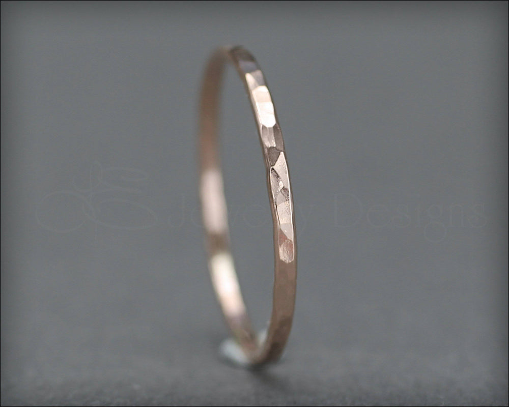 Thin 14k Rose or Yellow Gold Ring