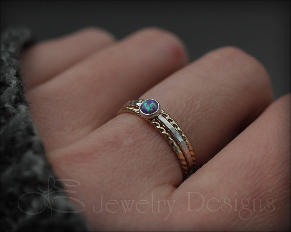 Opal Ring Set - (with 1 opal)