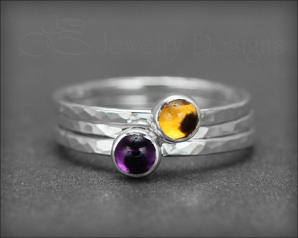 Gemstone Ring Set - (with 2 stones)