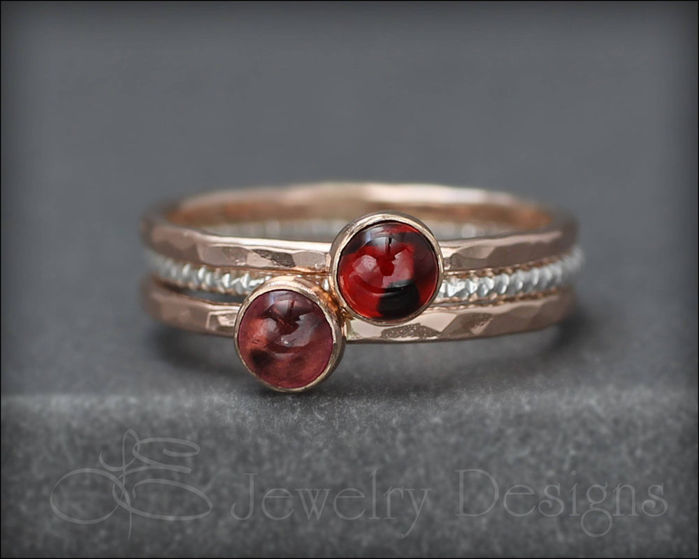 Gemstone Ring Set - (with 2 stones) - LE Jewelry Designs