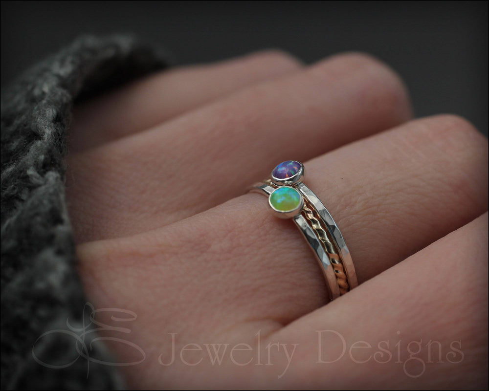 Opal Ring Set - (with 2 opals)