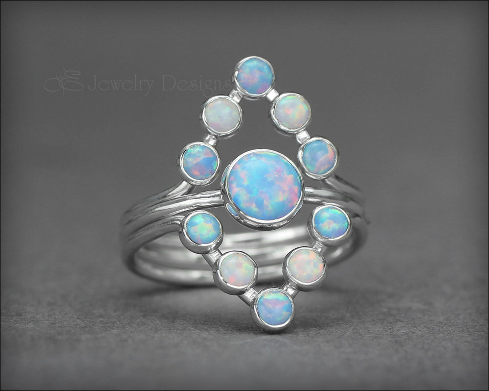 3-Ring Opal Chevron Ring Set - LE Jewelry Designs