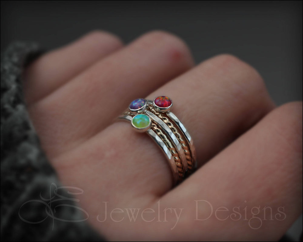 Opal Ring Set - (with 3 opals)