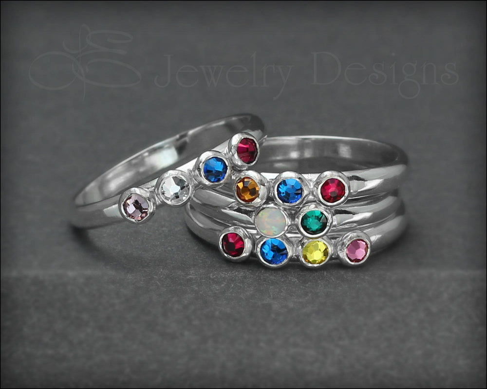Multi Birthstone Ring - (choose # of stones)