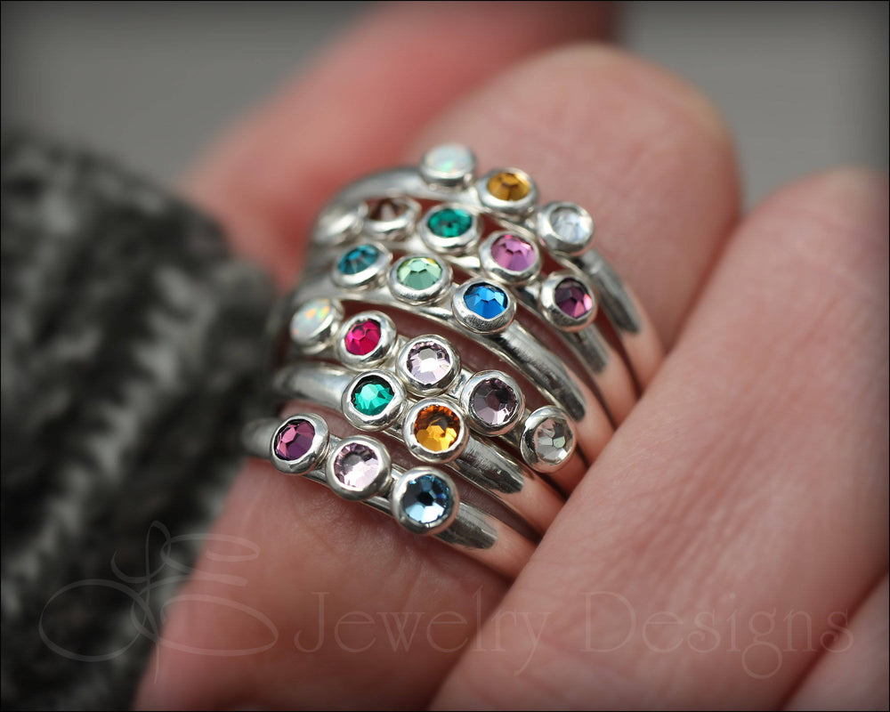 Multi Birthstone Ring - (choose # of stones) - LE Jewelry Designs