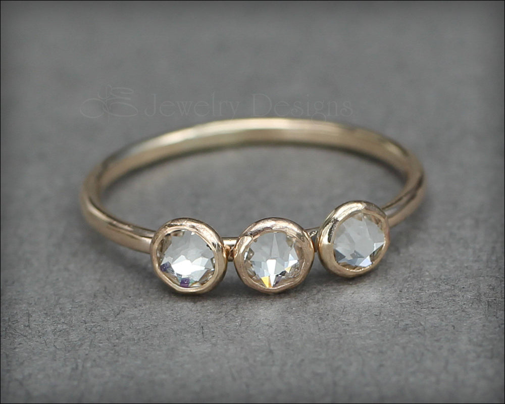 Three Birthstone or Opal Ring