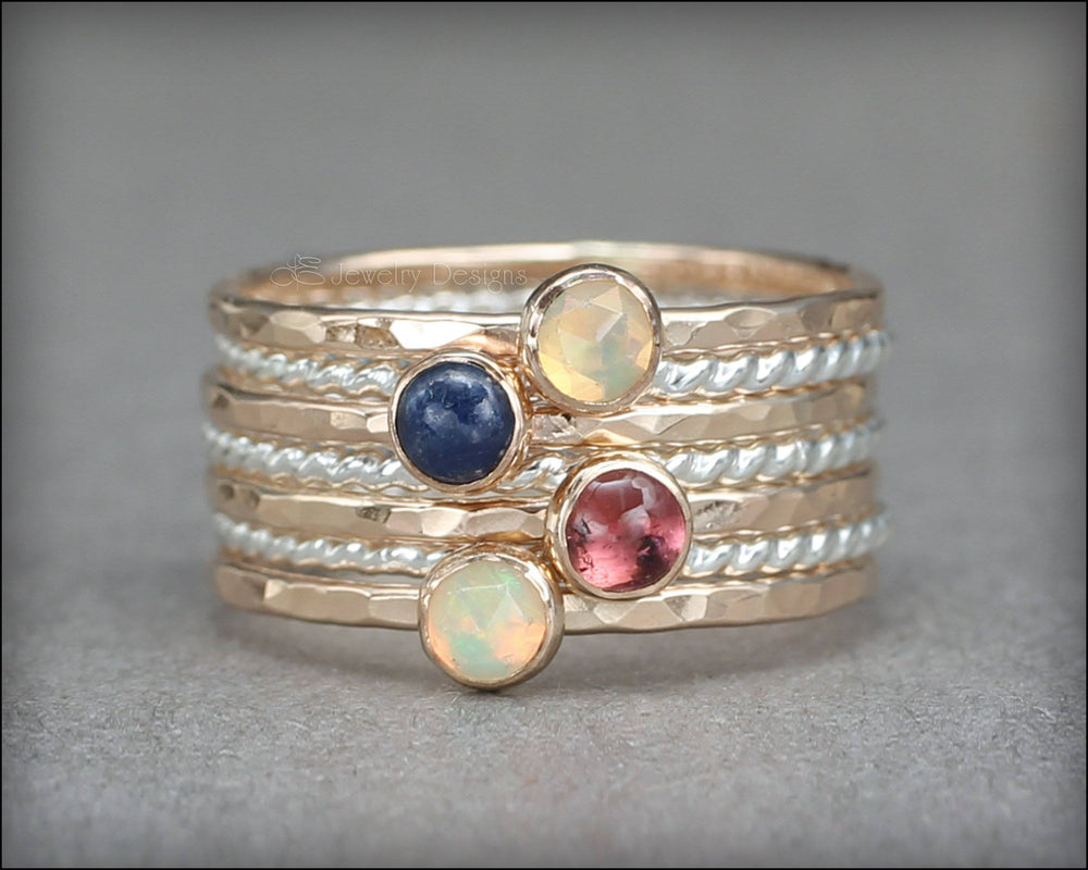 Gemstone Ring Set - (with 4 stones)