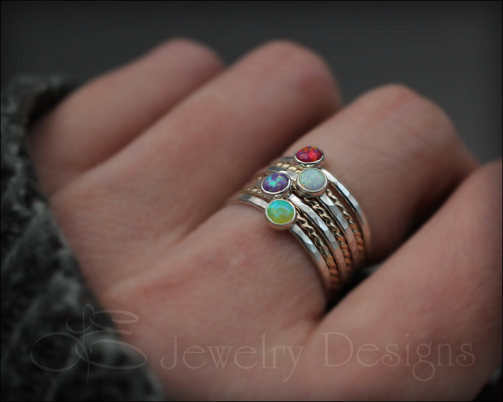 Opal Ring Set - (with 4 opals) - LE Jewelry Designs