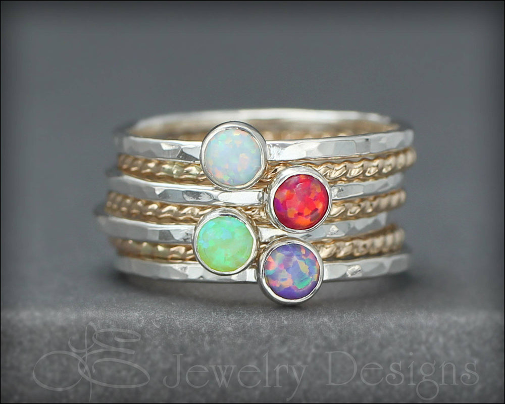Opal Ring Set - (with 4 opals)