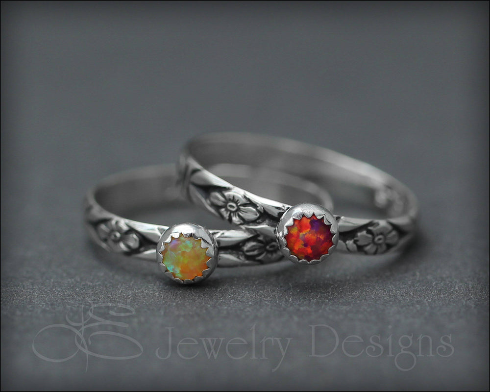 Opal Stacking Ring (4mm)