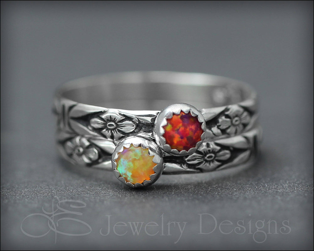 Opal Stacking Ring (4mm) - LE Jewelry Designs