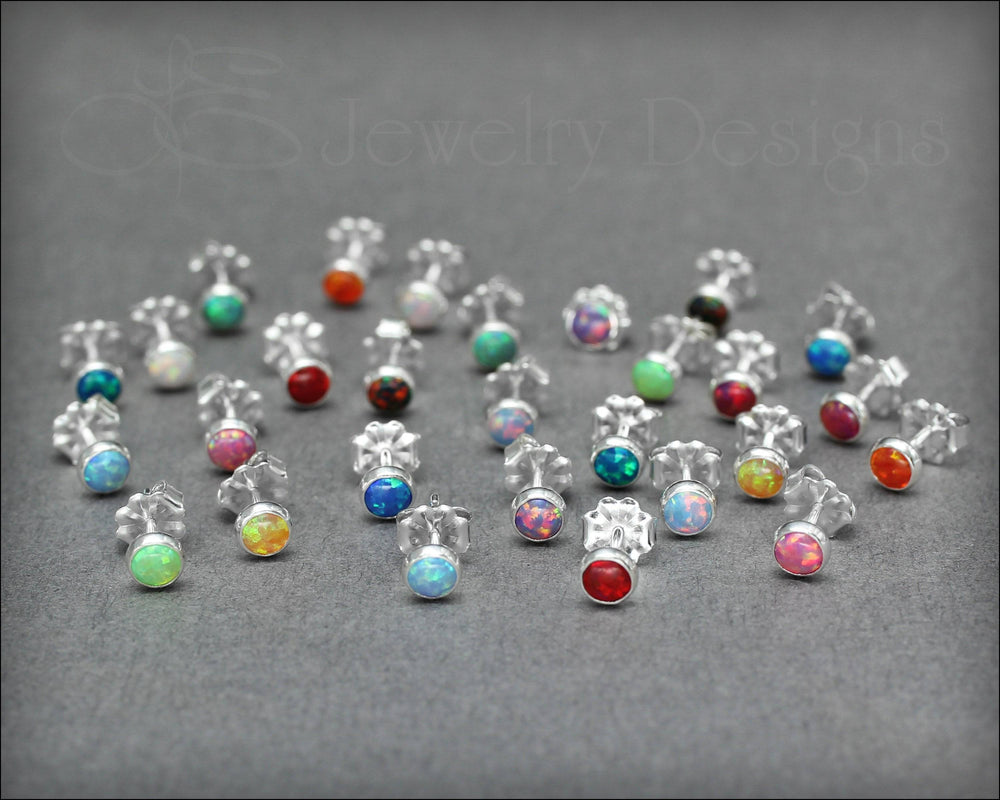 Single Opal Stud Earring (4mm) - LE Jewelry Designs