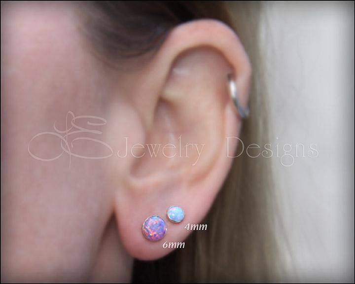 Opal Stud Earrings (6mm)