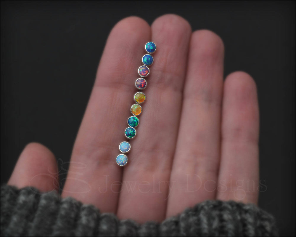 Opal or Birthstone Studs (screw backs) - LE Jewelry Designs