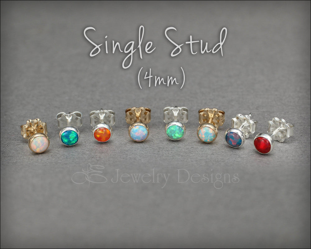 Single Opal Stud Earring (4mm)