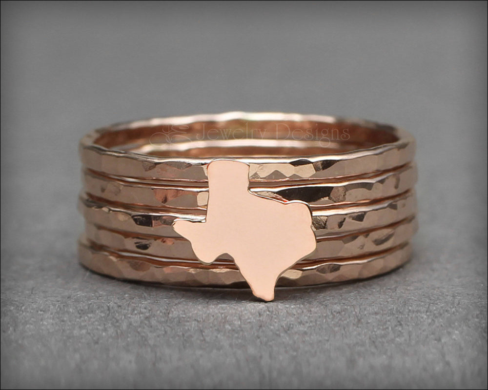 Texas Ring Set - (sterling, 14k gold) - LE Jewelry Designs