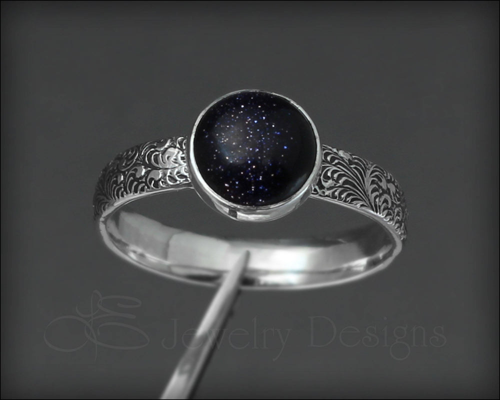 Blue Goldstone Ring