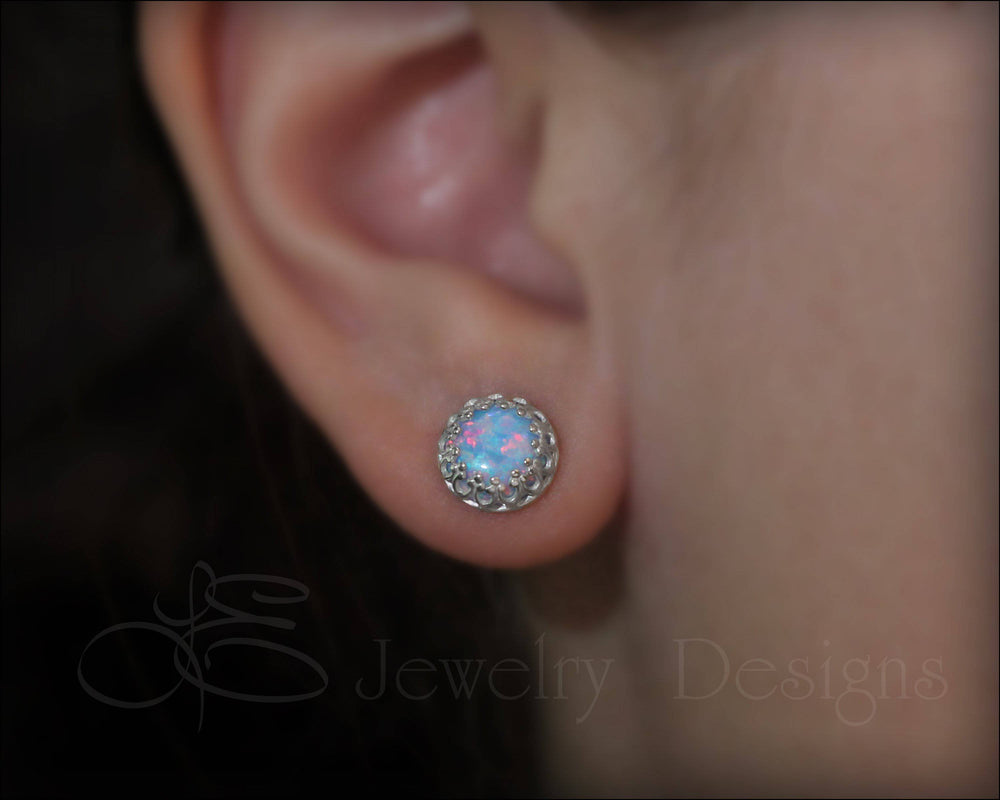 Sterling Gallery Opal Studs - LE Jewelry Designs