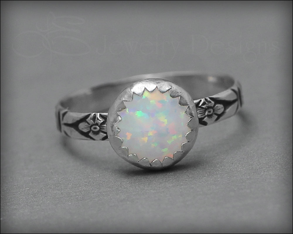 Floral Opal Ring (8mm) - LE Jewelry Designs