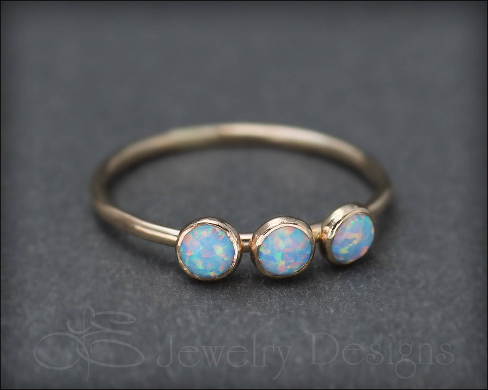 Three Opal Gold Ring