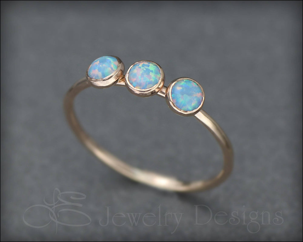 3-Stone Gold-Filled Opal Ring