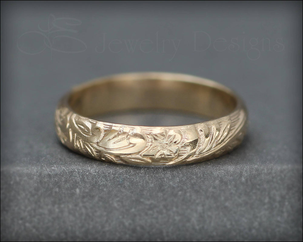 Gold Wedding Band - LE Jewelry Designs