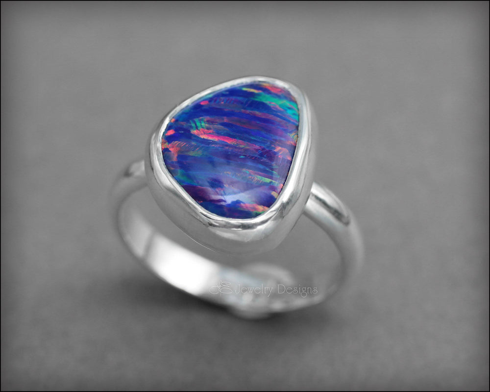 Sterling Opal Ring - (choose your color)
