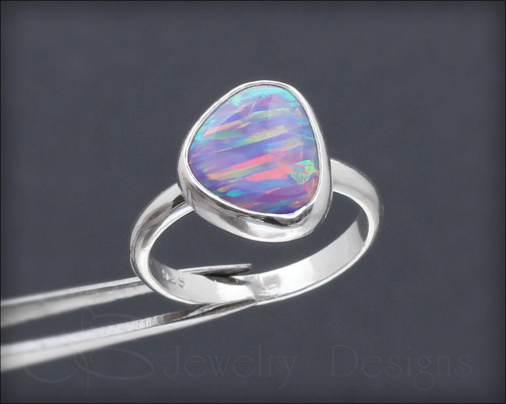 Sterling Opal Ring - choose your color