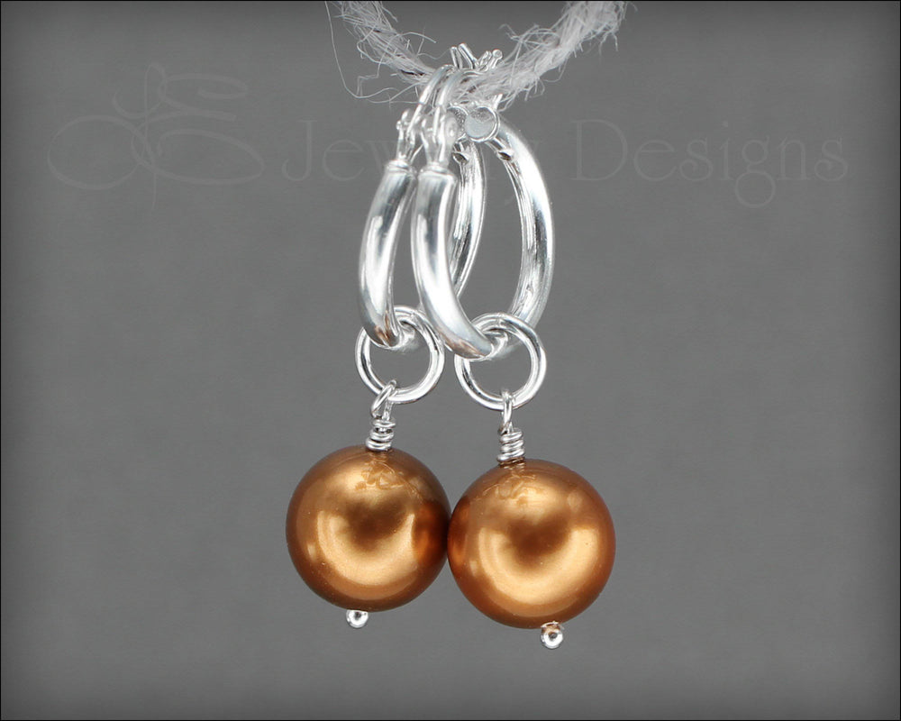 Interchangeable Pearl Earrings - (choose your color)
