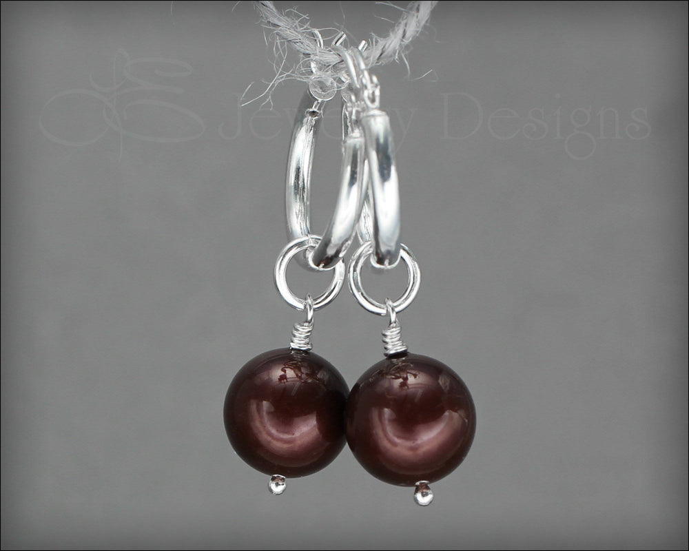 Interchangeable Pearl Earrings - (choose color) - LE Jewelry Designs