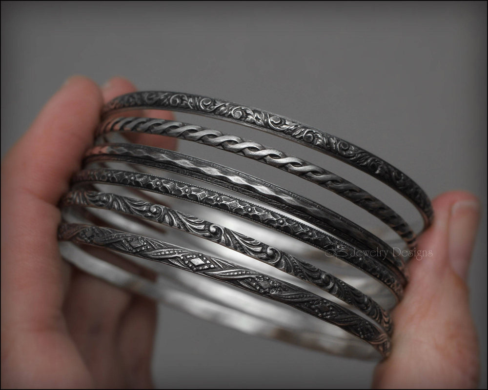 Skinny Sterling Stacking Bangles