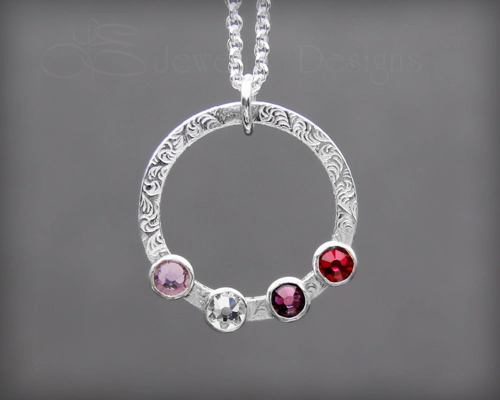 Mother's Circle Birthstone Necklace