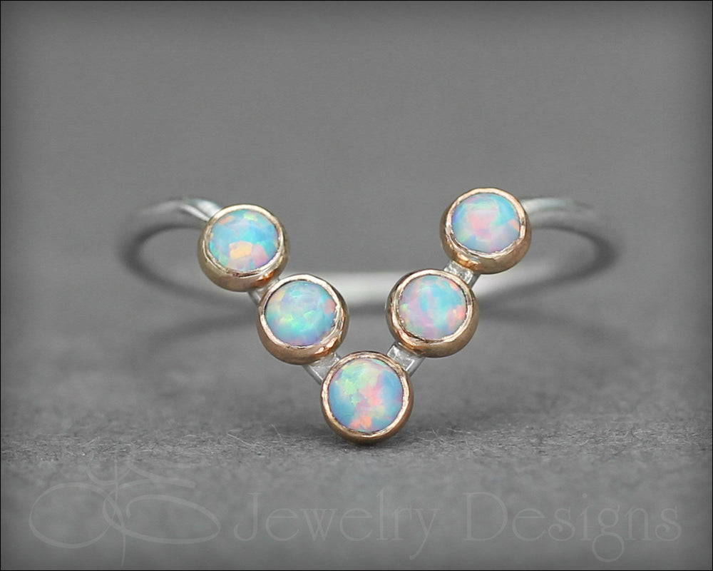 Opal Chevron Ring - (choose your color)