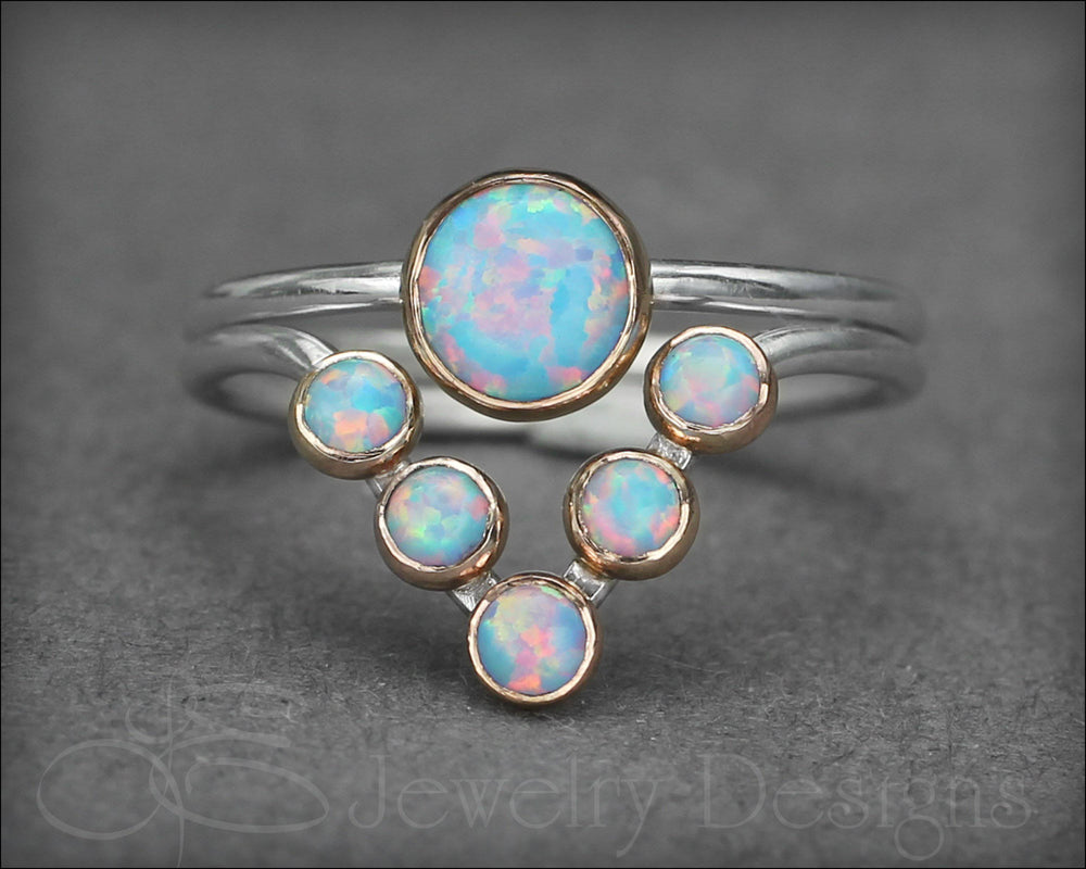 Opal Chevron Ring Set (choose your color)