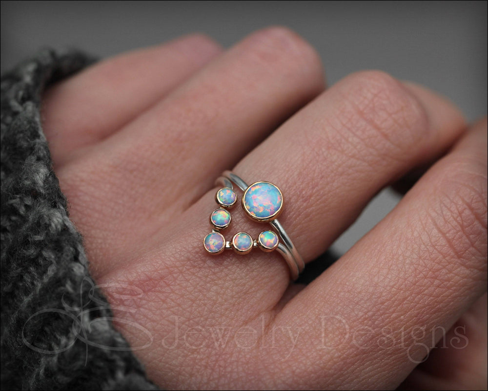 Opal Chevron Ring Set