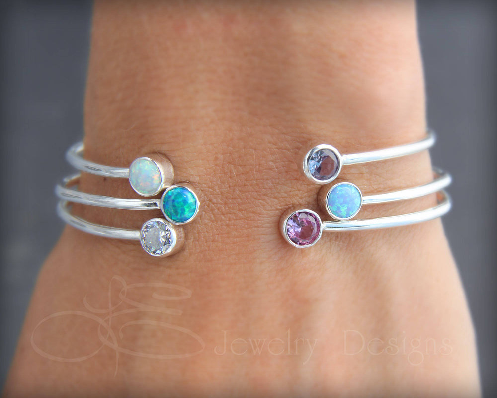 Dual Birthstone or Opal Bracelet - LE Jewelry Designs