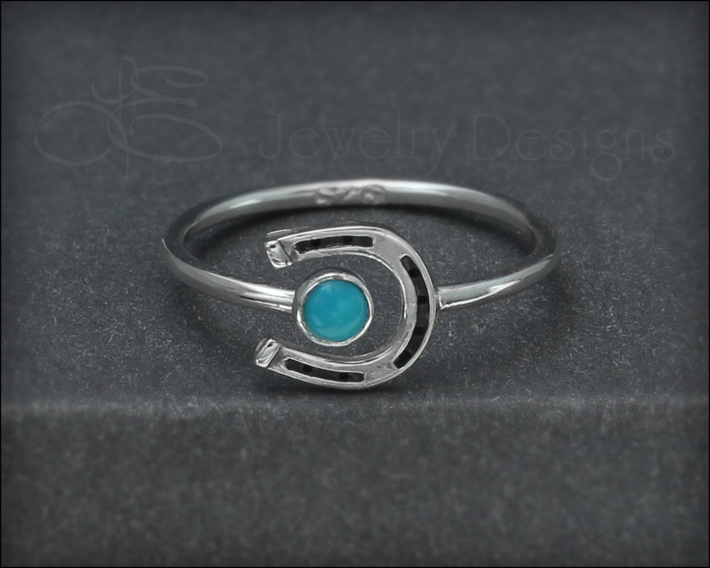 Horseshoe Gemstone Ring