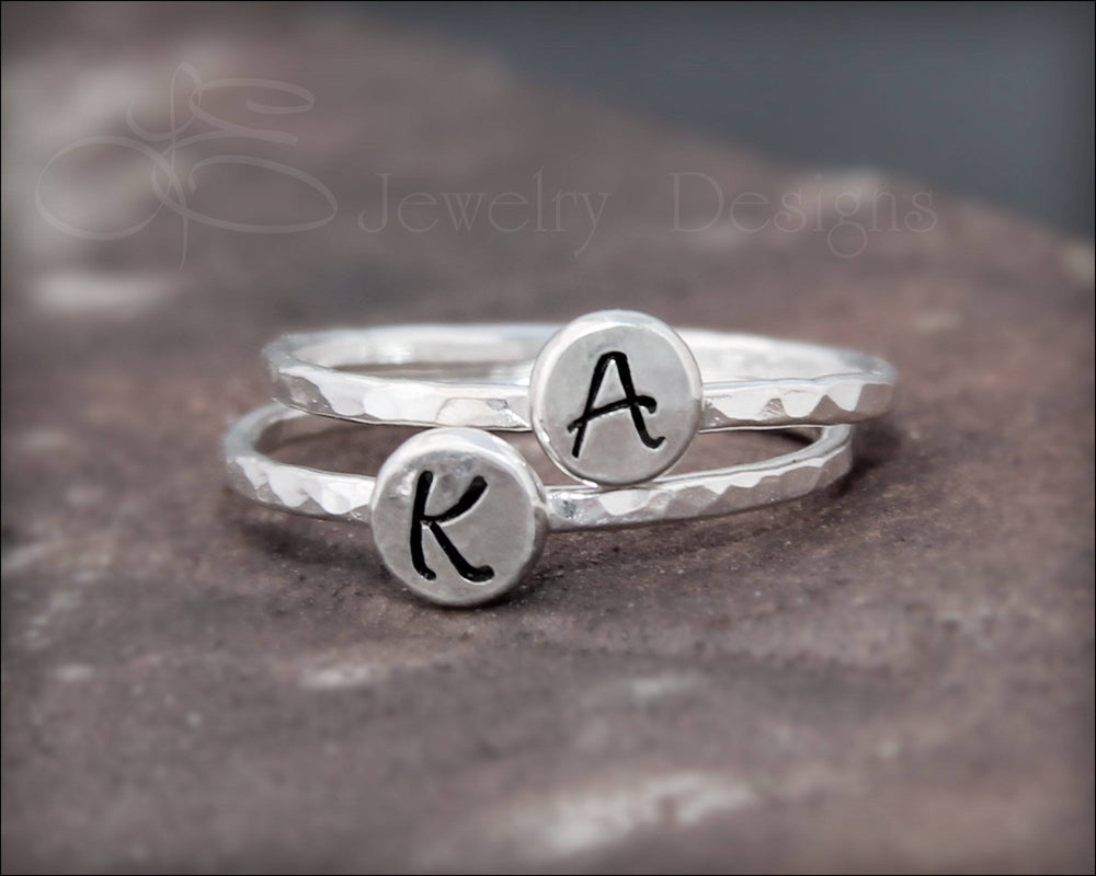 Hand Stamped Initial Ring