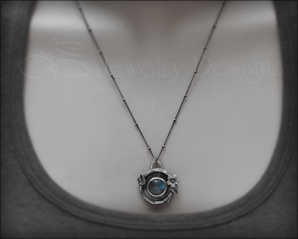 Labradorite Botanical Necklace