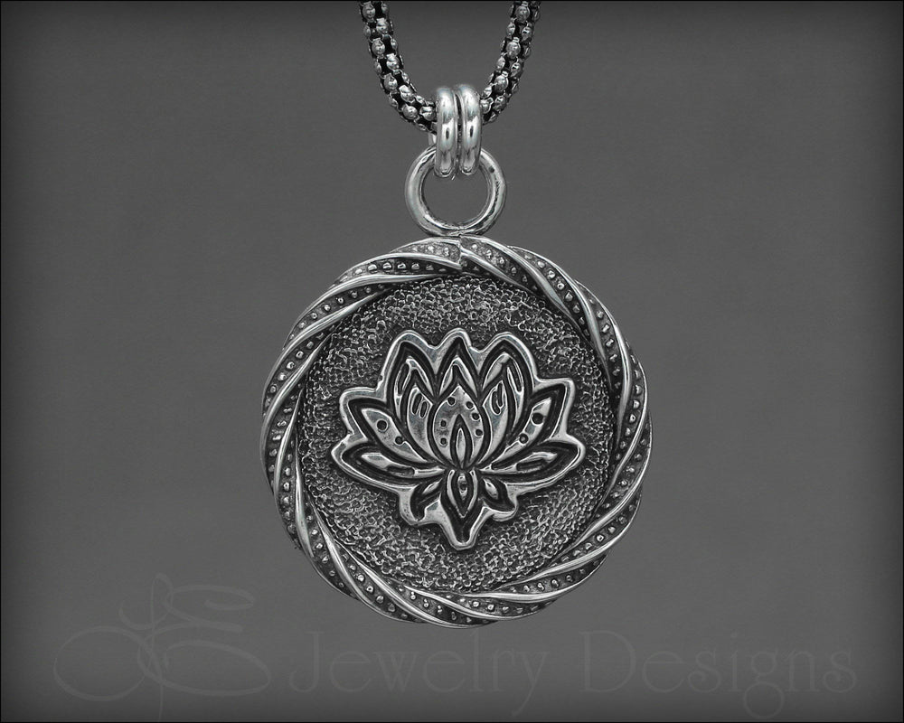 Sterling Lotus Pendant