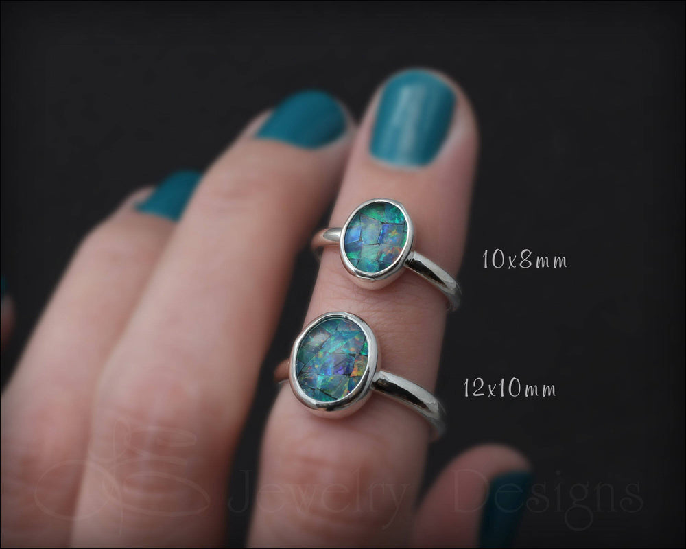 Sterling Mosaic Opal Ring