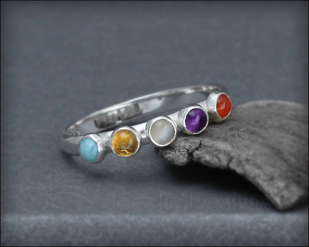 Multi Gemstone Ring - (choose # of stones)