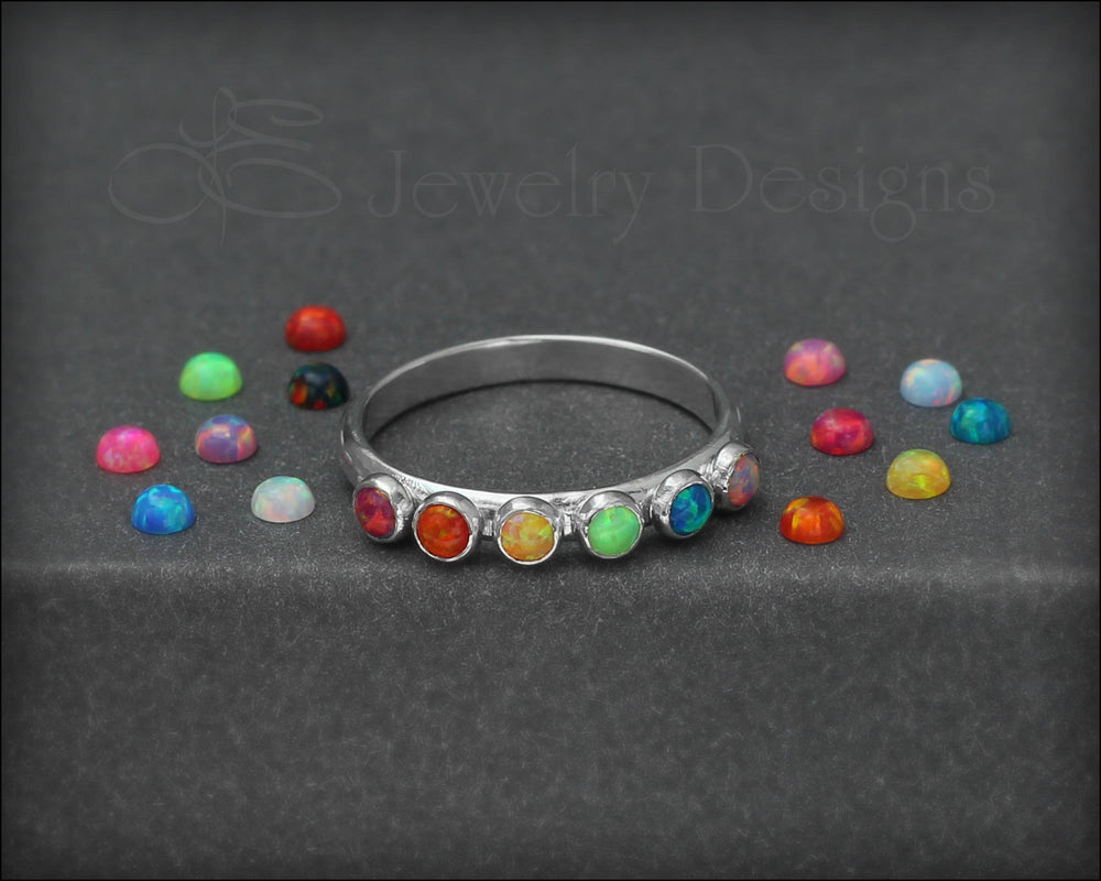 Multi Opal Ring - (choose # of opals)