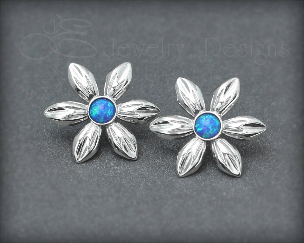 Opal Flower Earrings - (choose your color)