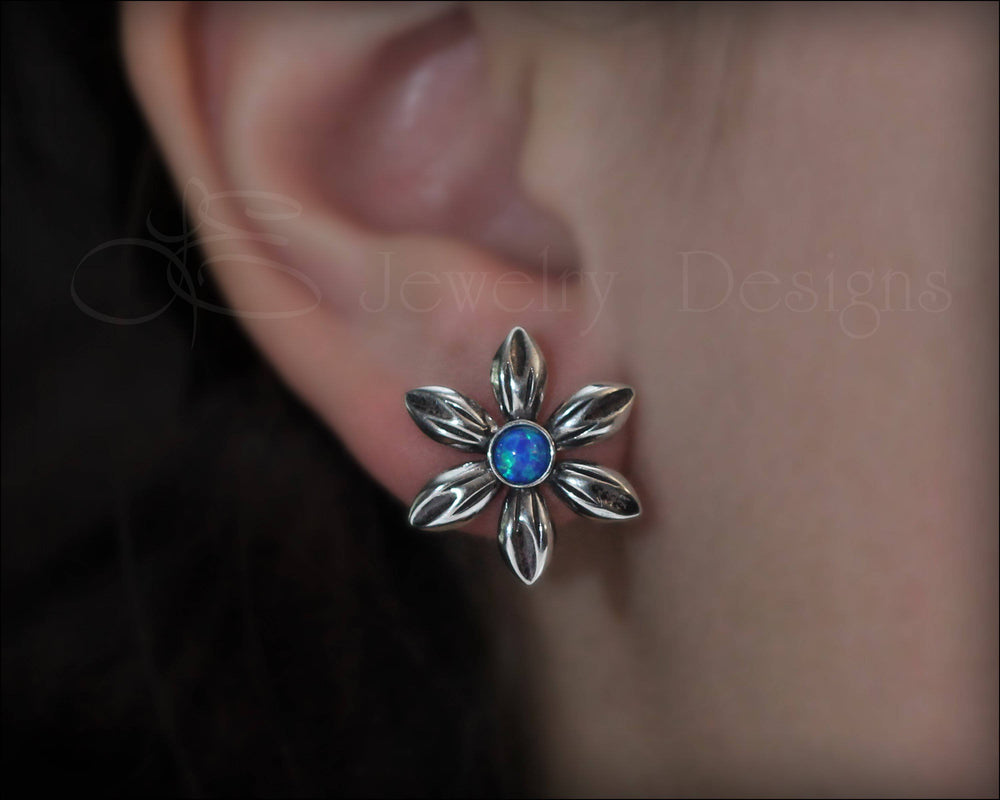 Opal Flower Earrings - (choose your color) - LE Jewelry Designs
