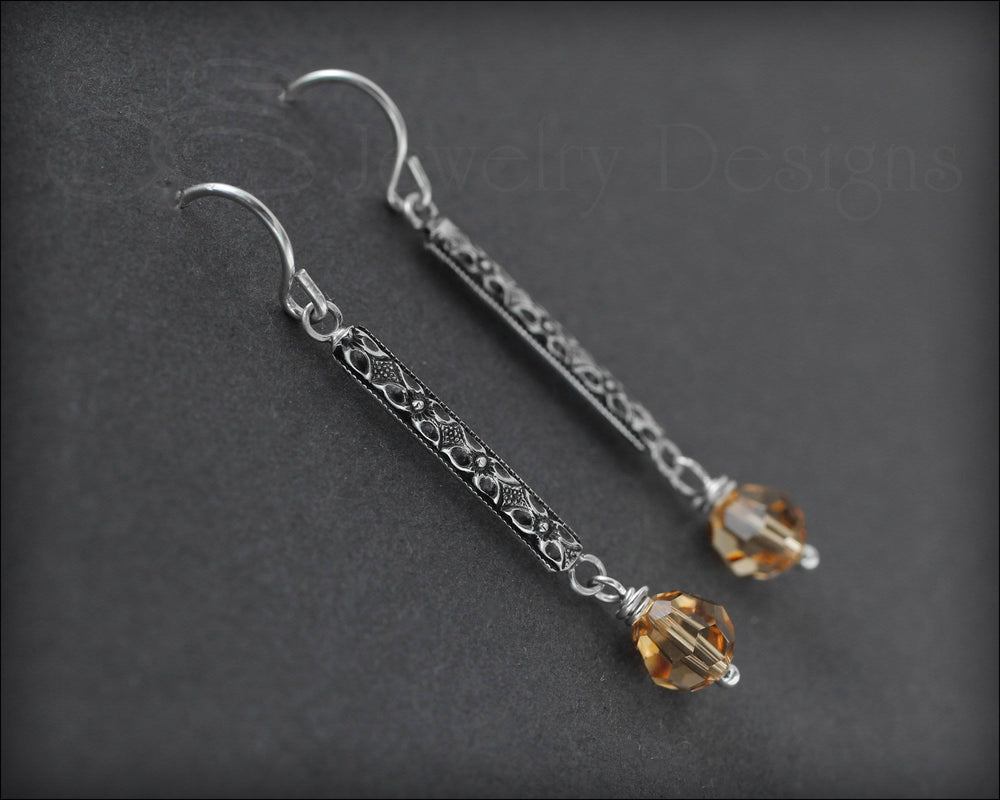 Pattern Bar Swarovski Drops - LE Jewelry Designs