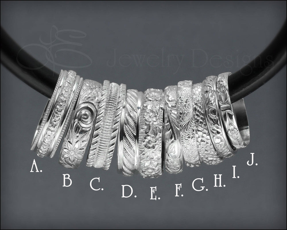 Sterling Pattern Bands - LE Jewelry Designs